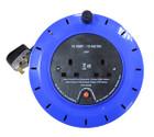 2 Way Cassette Cable Reel - Blue - 10m