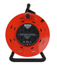 4 Way Open Frame Cable Reel - Red - 25m