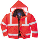 Hi-Vis Bomber Jacket - Red - Large