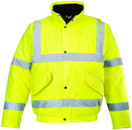 Hi-Vis Bomber Jacket - Yellow - Large