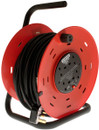 4 Way Open Frame Cable Reel - Red - 50m