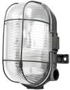 Oval Caged Bulkhead Light - Black - 60W
