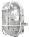 Oval Caged Bulkhead Light - White - 60W