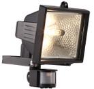 Eco Halogen PIR Floodlight - Black - 400W