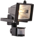 Eco Halogen PIR Floodlight - Black - 120W