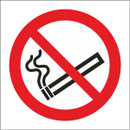 No Smoking Symbol - Self Adhesive Vinyl - 100mm x 100mm