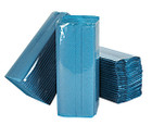 1 Ply Blue C-Fold Paper Hand Towels - Pack of 2560