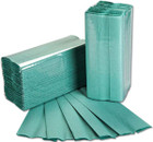 1 Ply Green C-Fold Paper Hand Towels - Pack of 2880