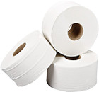 2 Ply White Mini Jumbo Toilet Rolls - 200m - Pack of 12