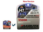 MTEC / MARUTA H7 55W 12v Super White 5500K Xenon Gas Filled Upgrade Bulbs (E4)
