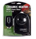 Ceramic Car Heater & Timer - 12V - 150W
