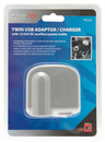 Twin USB Adaptor & Charger - 12V