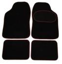 Luxury Universal Mat Set - Red S Binding - Black - 4 Piece