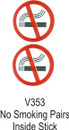 Indoor Vinyl Sticker - No Smoking Circle Pair