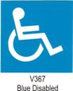 Indoor Vinyl Sticker - Blue - Disabled