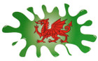 Indoor Vinyl Sticker - Welsh Dragon Splat