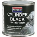 High Temperature Cylinder Paint - Black Satin - 250ml