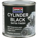 High Temperature Cylinder Paint - Black Satin - 100ml