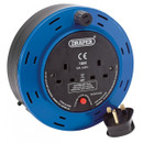 Twin Extension Cable Reel - Blue - 10m