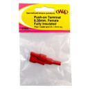 6.35mm Insulated Female Push-On Terminal - Red
