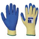 Cut 3 Latex Grip Gloves - Yellow/Blue - X Large