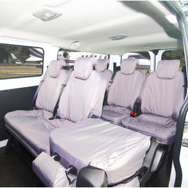 TOWN & COUNTRY - Van Seat Cover - Rear Folding - Grey - Ford Transit Custom  Torneo/Kombi Crew 2013 Onwards TCTKGRY