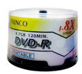 Princo 8X White Inkjet Hub Printable DVD-R 4.7GB