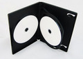 14mm Black DVD Case Holds 3 Discs w/ 1 Tray