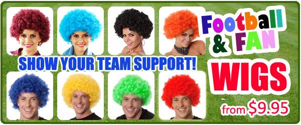 Football Team Wigs