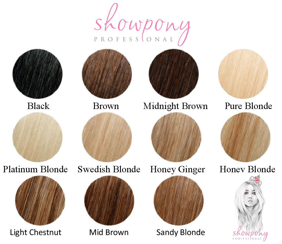 Showpony Professional Hair Extensions Colour Chart