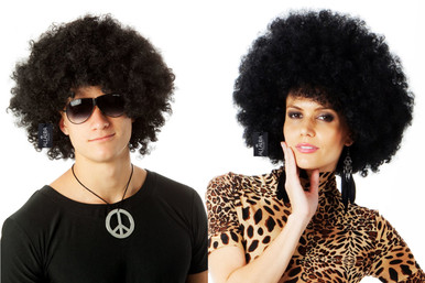 Jumbo Black Afro 70's Disco Costume Wig - Unisex - by Allaura