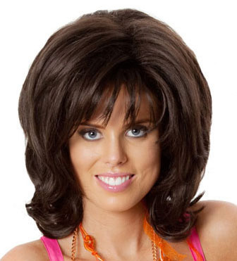Big Hair 1960's Brown (Hairspray) Deluxe Costume Wig