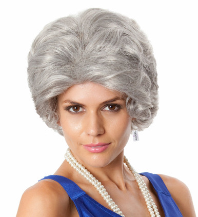 The Queen (Old Lady) Grey Costume Wig