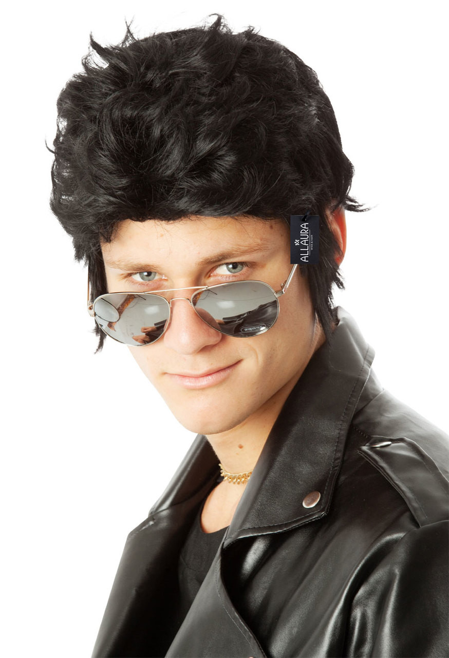 Adult 1950s Greaser Wig