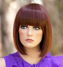 ALLY - Heat Resistant Auburn China  Bob Wig - by Allaura