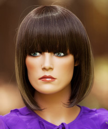 ALLY - Heat Resistant Brown Highlighted China Bob Wig - by Allaura