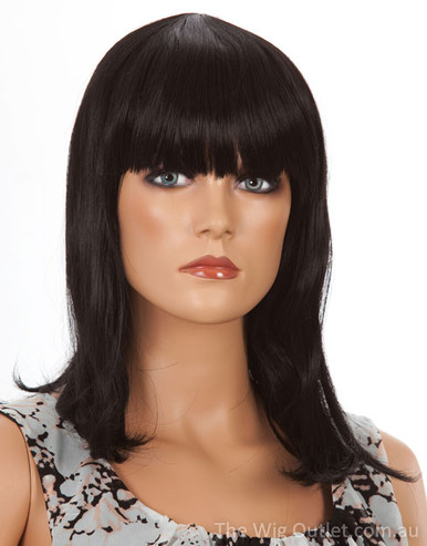 DELUXE Cleo (Black 1) Premium Fashion Wig - Heat Resistant