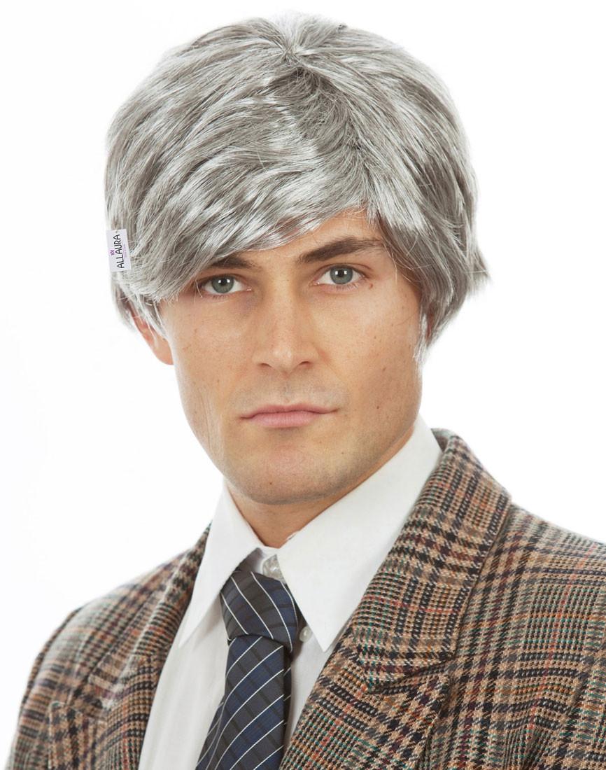 Old Man Grey Richie Benaud Costume Wig By Allaura