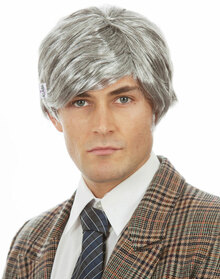 Old Man Grey (Richie Benaud) Costume Wig - by Allaura