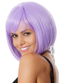 Glamour Long Bob (Purple) Costume Wig - by Allaura