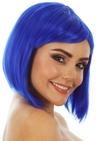 Glamour Long Bob (Blue) Costume Wig