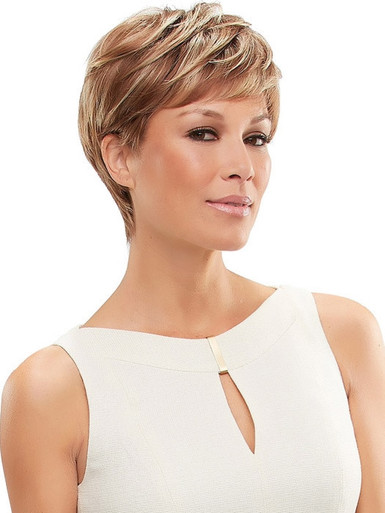 ANNETTE - Lace Front Monofilament Short Straight Pixie Wig - by Jon Renau FS26/31S6