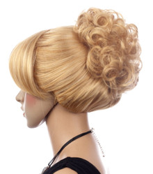 DELUXE Cinderella Blonde Bun Costume Wig - High Quality