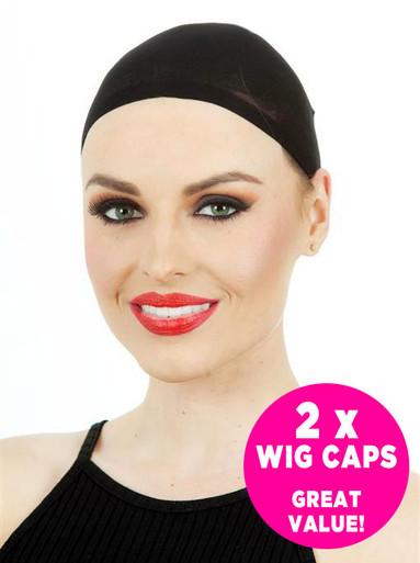 BLACK Wig Stocking Cap