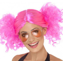 80's Pink Bunches Costume Wig