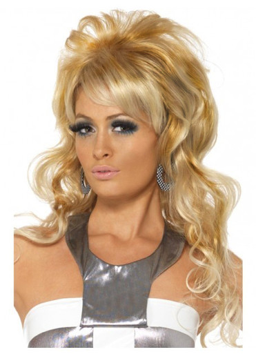 60'S Beauty Queen Blonde Costume Wig