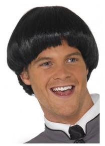 Swinging '60s Beatles Bowl Costume Wig, Black