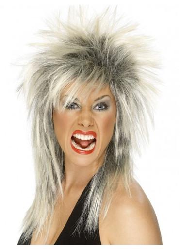Rock Diva (Tina Turner) Blonde and Black Costume Wig