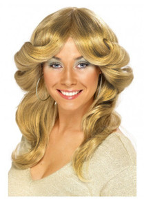 70's (Farrah Fawcett) Strawberry Blonde Flick Costume Wig