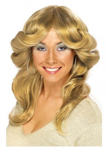 70's (Farrah Fawcett) Strawberry Blonde Flick Costume Wig